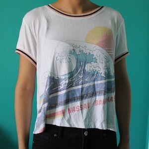 Aeropostale Bahamas ringer t-shirt